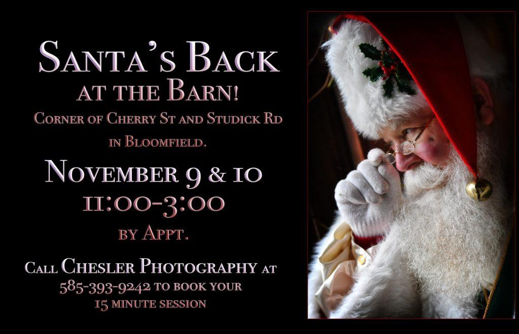 Santa photos at Chesler Photography